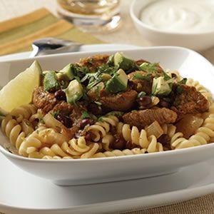 Salsa Verde Pork and Pasta Stew