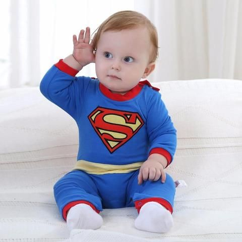 2f679bedd New Born Baby Boy Clothes Superman Style Baby Boy Jumpsuits With  Cloakdresskily
