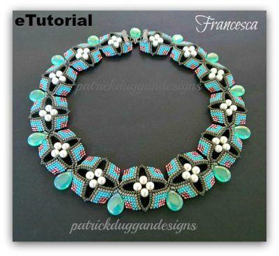 """eTutorial """"Francesca"""" an original necklace by patrickduggandesigns"""