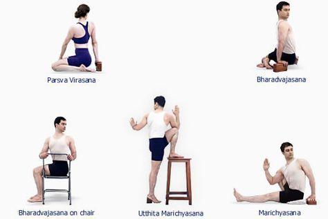 b k s iyengar  iyengar yoga  asanas  twisting asanas  look