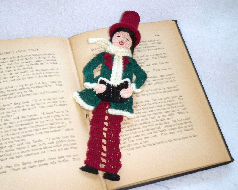 crochet bookmark male victorian