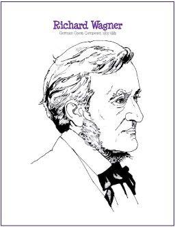 Richard Wagner | Composer Coloring Page - http://makingmusicfun.net/htm/f_printit_free_printable_worksheets/wagner-coloring-page.htm