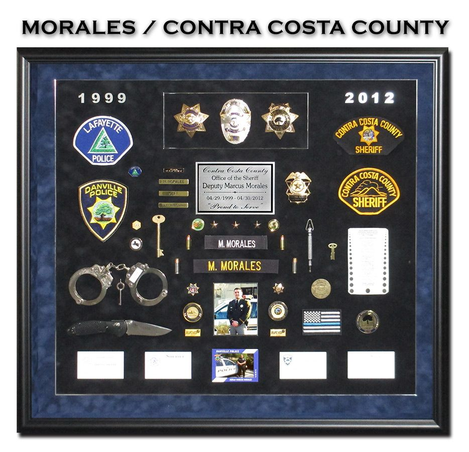 Morales contra costa county sheriff retirement shadowbox