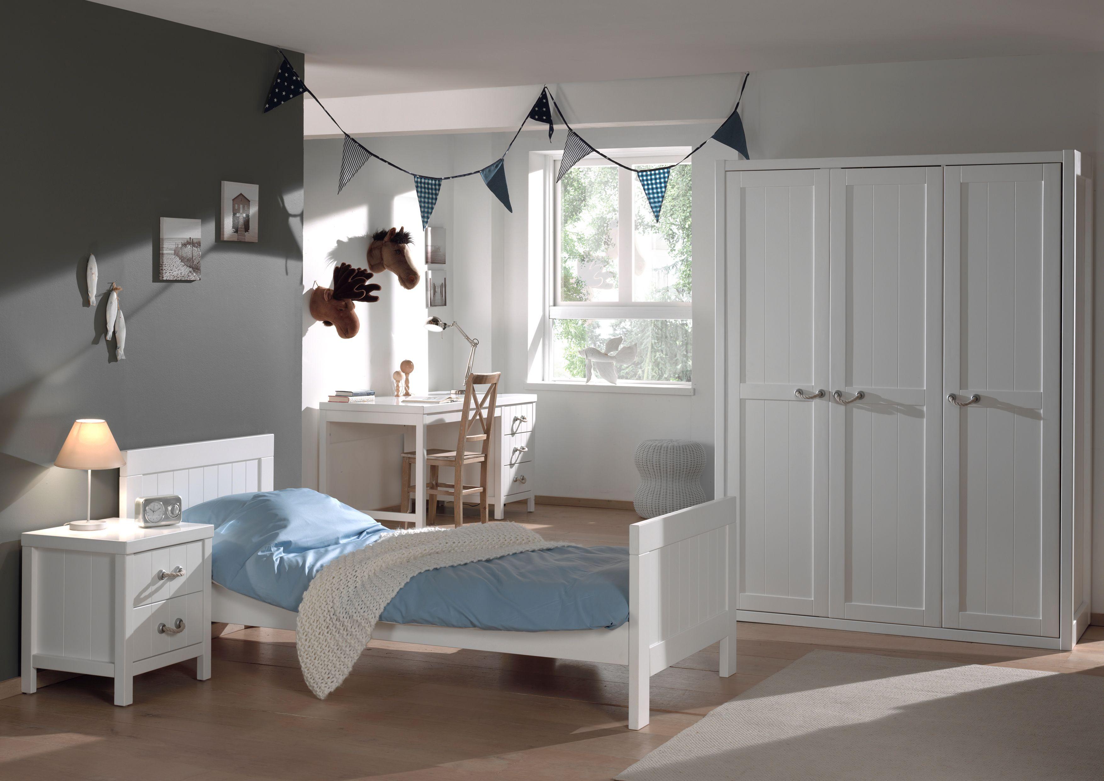 Set Lewis, 6teilig, Weiß Schlafzimmer set, Einzelbett