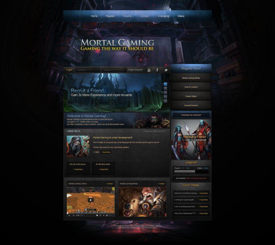 gaming website design - Google 搜尋 | Game Web | Pinterest
