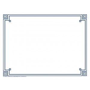 four square blue border paper create your own invitation program
