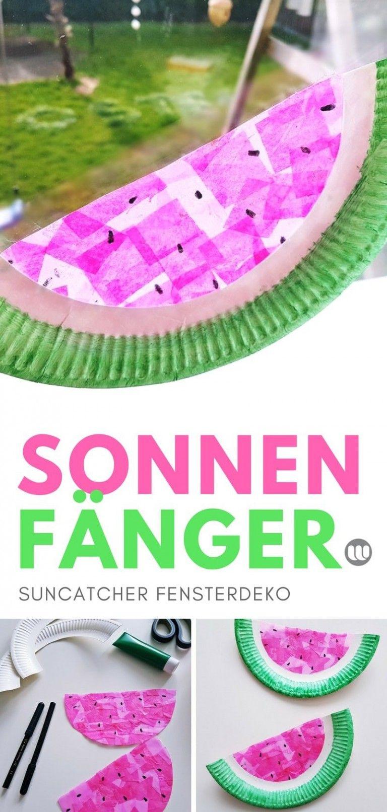 Wassermelone Suncatcher: Sommer Fensterbilder für Kinder