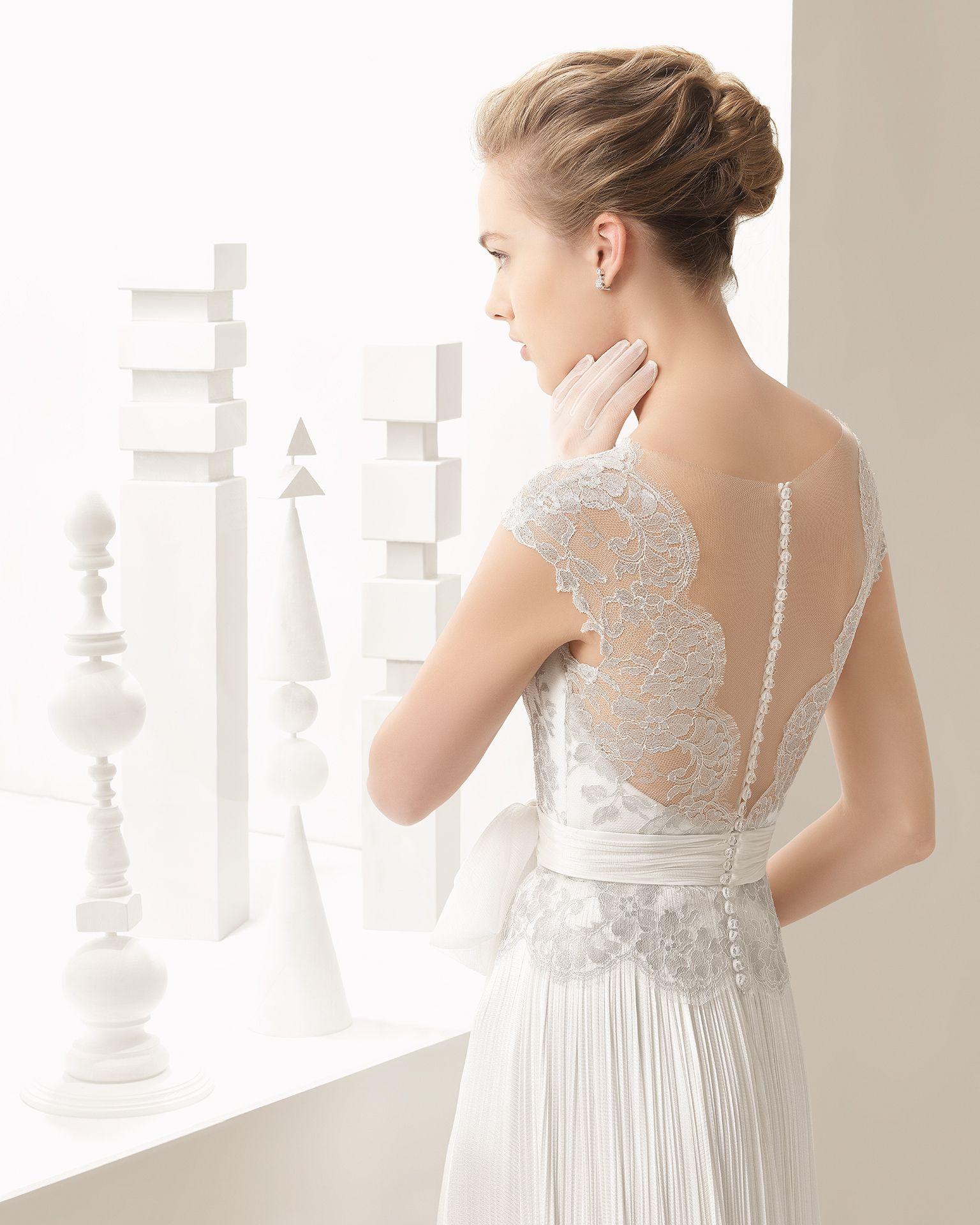 Vestido noiva em renda francesa