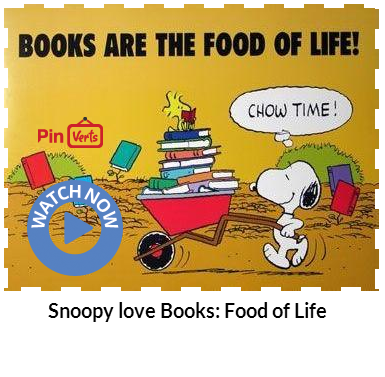 Books are Food of Life, Snoopy loves reading at Snoopy Big Fan Club here. Check out at http://pinverts.com/Snoopy-love-Books-Food-of-Life_ytjseuf