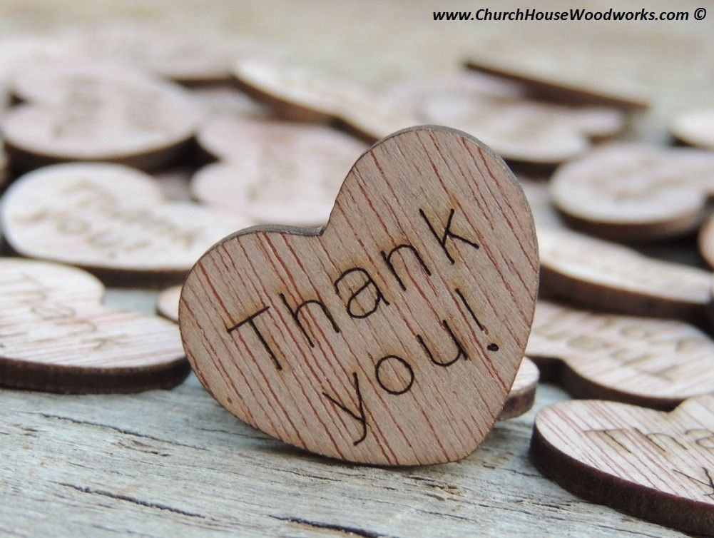Thank You Wood Hearts 100 Ct 1 Inch Wooden Heart Confetti Wood Hearts Wood Heart Confetti