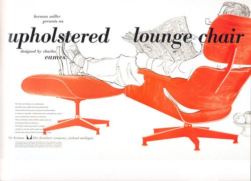 Eames Lounge Chair and Ottoman Advertisment (Herman Miller)