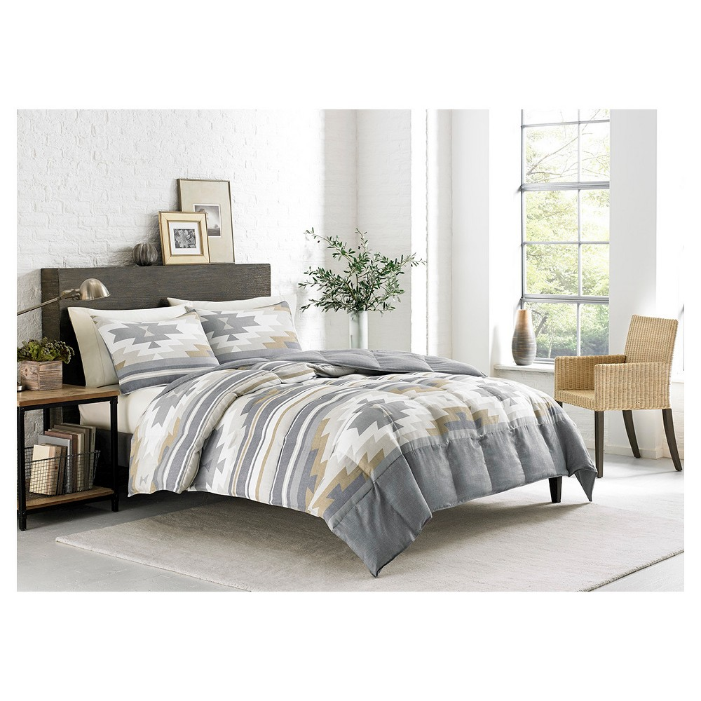 Fidalgo comforter and sham set king multicolor eddie bauer grey