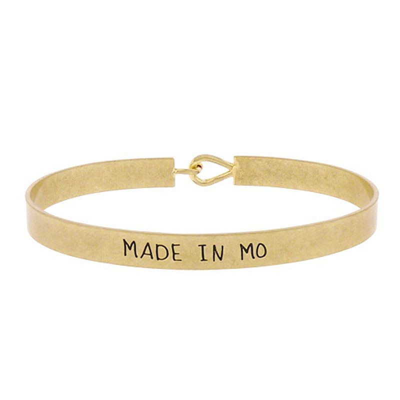 Made in MO - State Map Brass Bracelet