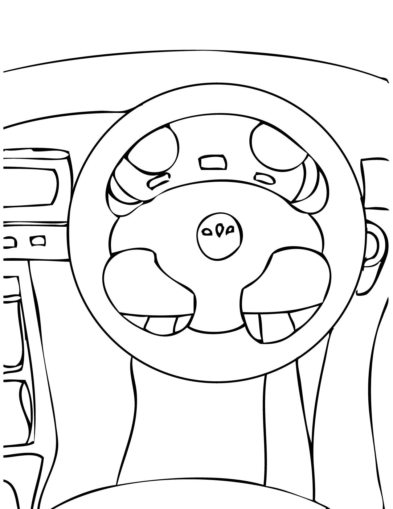 Car Steering Wheel Coloring Pages Wheel Steering Wheel