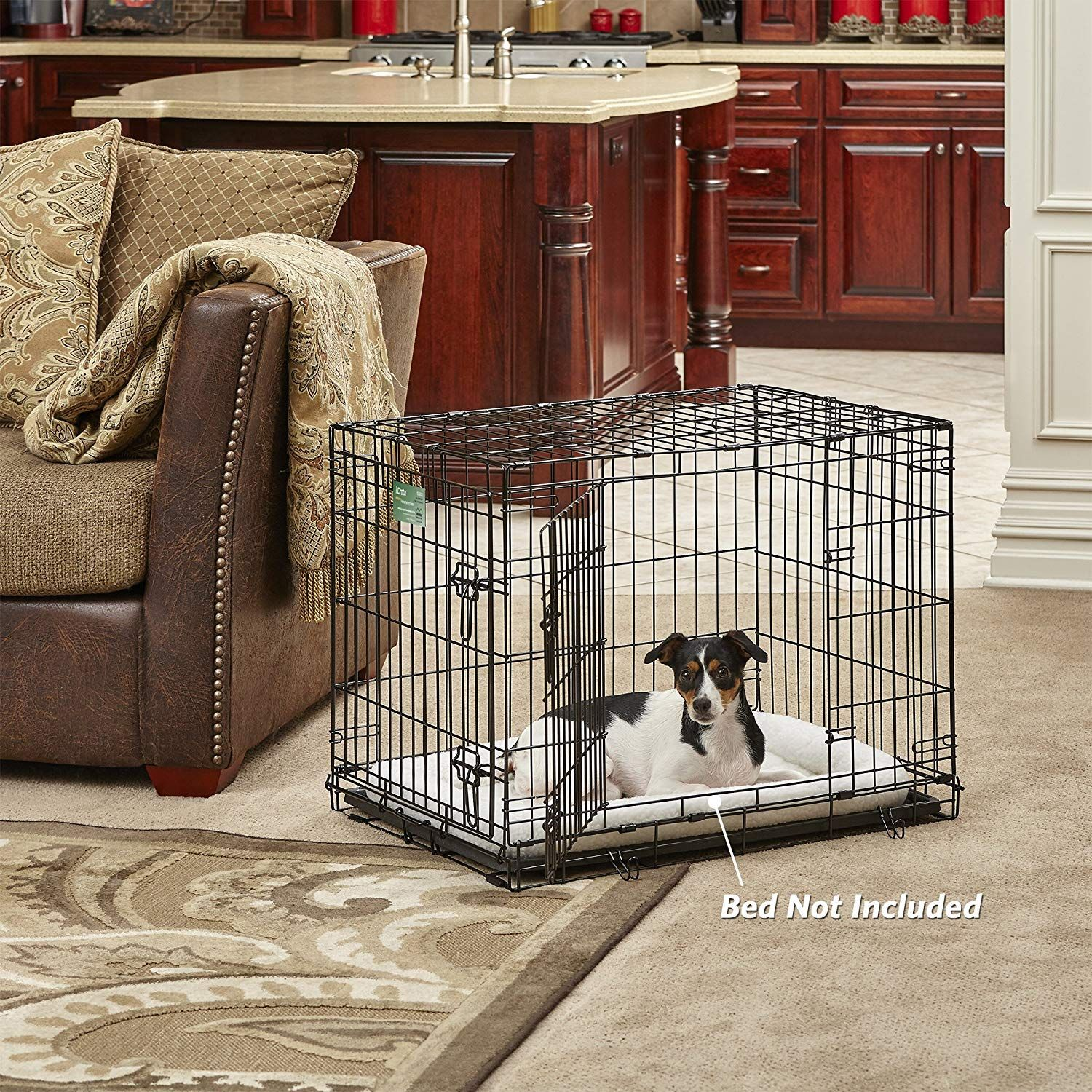 Midwest Homes For Pets Dog Crate Icrate Single Door Double Door Folding Metal Dog Crates Fully Equipped Dog Playpen Large Dog Crate Heavy Duty Dog Crate