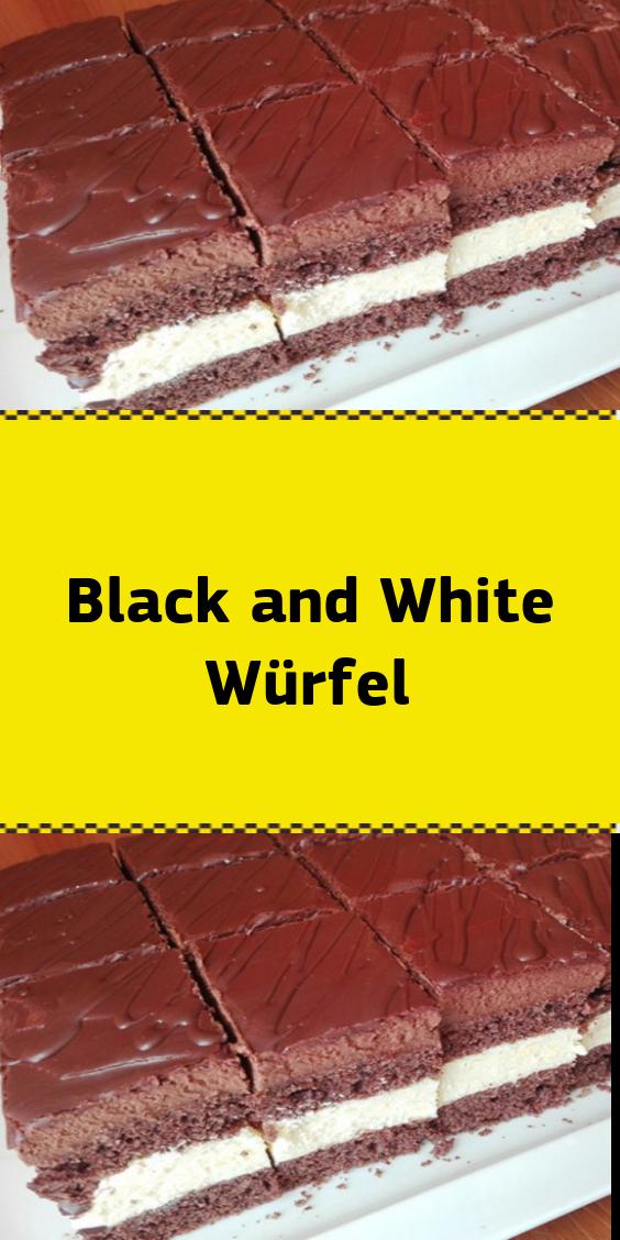 Black and White Würfel #süßesbacken
