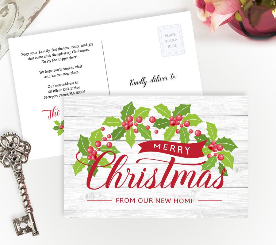 Holiday moving announcements | We\'ve moved Christmas cards | Moving ...