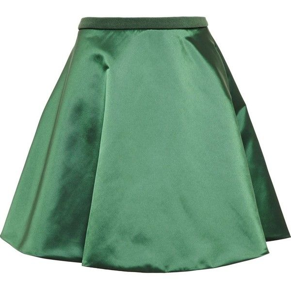 Acne Studios 'Fuel' shine satin skirt (4,775 MXN) ❤ liked on Polyvore featuring skirts, faldas, green, acne studios, a-line skirts, satin a line skirt, knee length a line skirt and shiny skirt