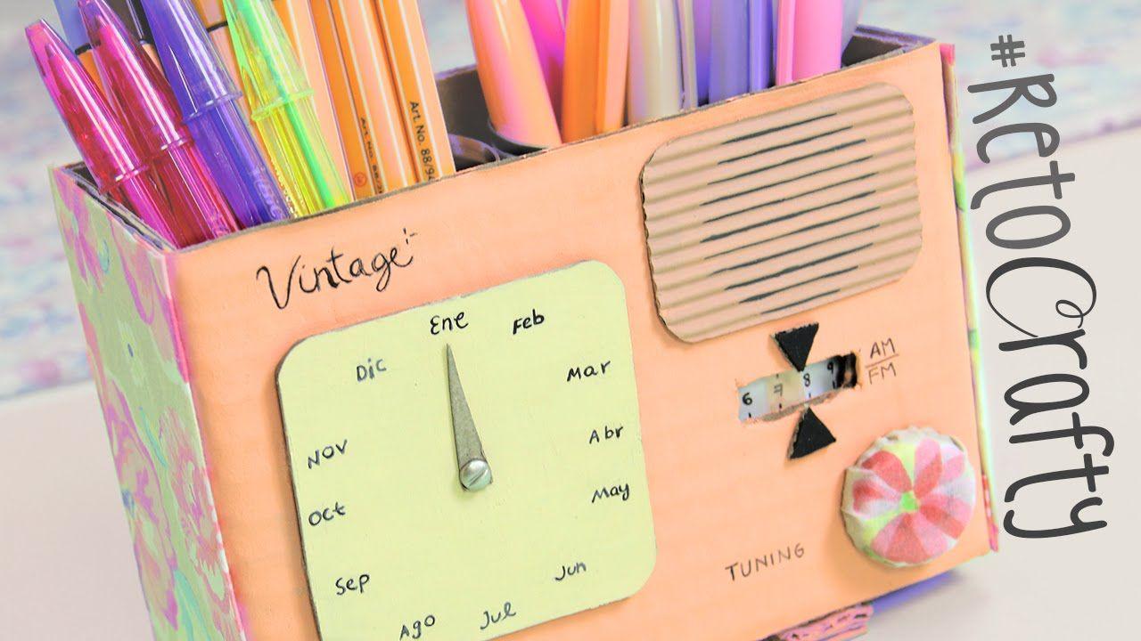#RetoCrafty: Radio vintage con Calendario y Lapicero ✎ Craftingeek