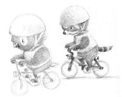 Bike ride Illustration | Found on renataliwska.blogspot.com