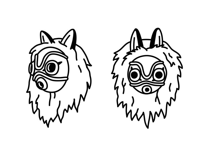 Mononoke Mask In 2020 Ghibli Tattoo Princess Mononoke Tattoo