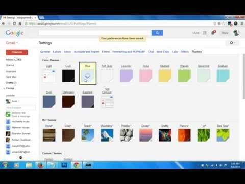 How To Change Your Gmail Background Themes Change Gmail Themes Chang Social Media Youtube You Changed