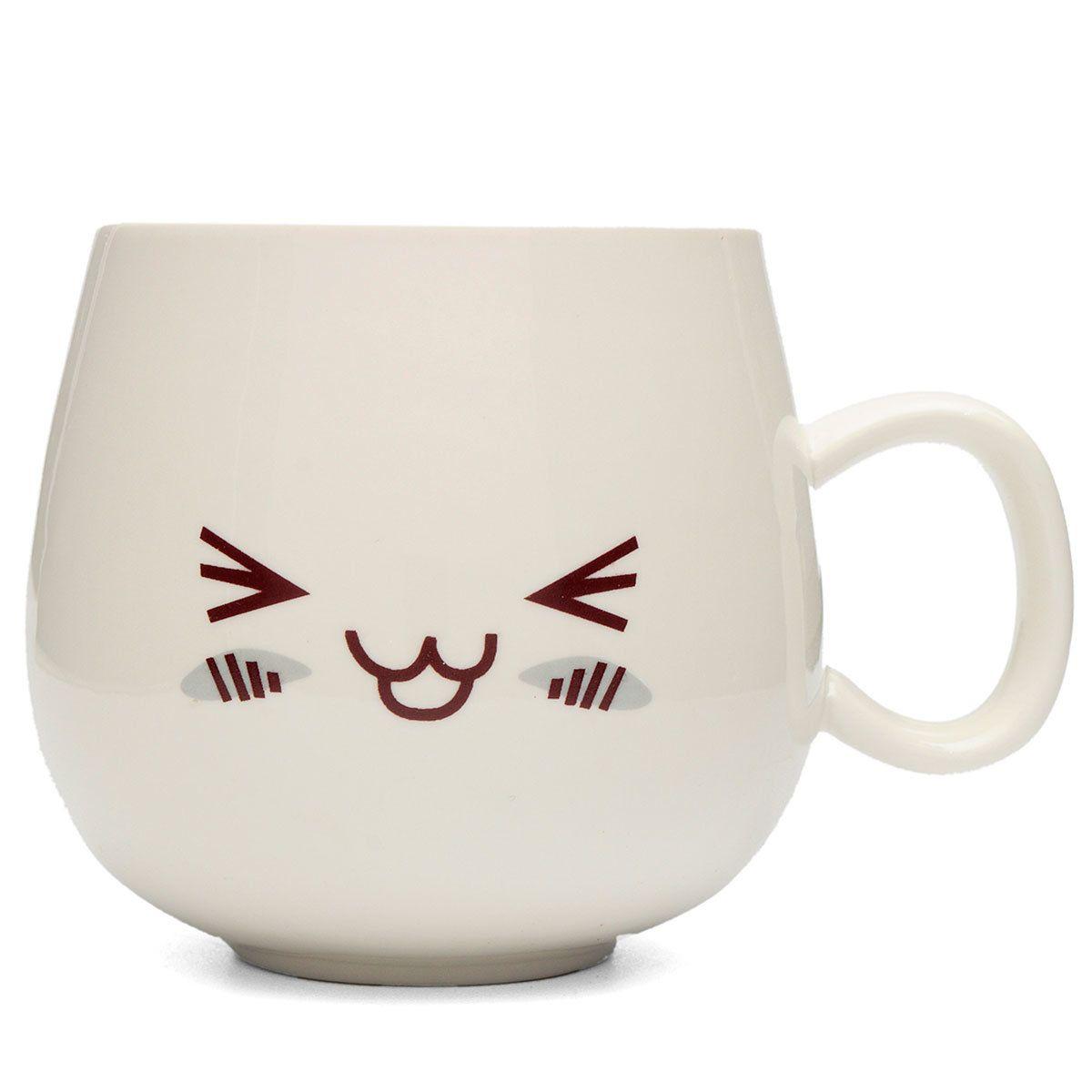 300ml creative cute expression ceramic cups cute face mug