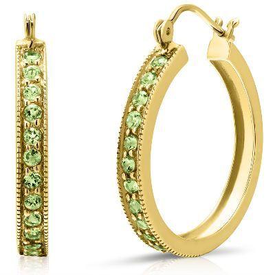 Peridot Is August S Birthstone And We Re Loving These Hoop Earrings In 10k
