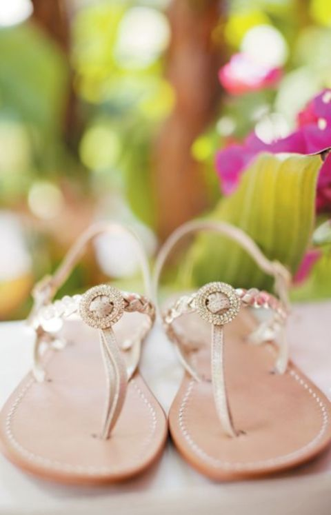3d33c7c9e06c1 33 Cool Beach Wedding Sandals - Barefoot And Not Only - Weddingomania. 59  Gorgeous Summer Wedding Shoes And Sandals