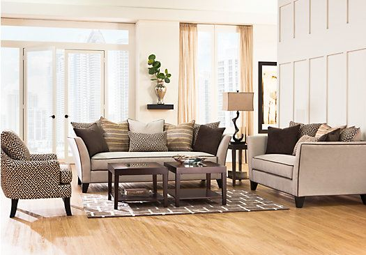 Delightful Picture Of Sofia Vergara Santorini 7 Pc Living Room From Living Room Sets  Furniture Part 5