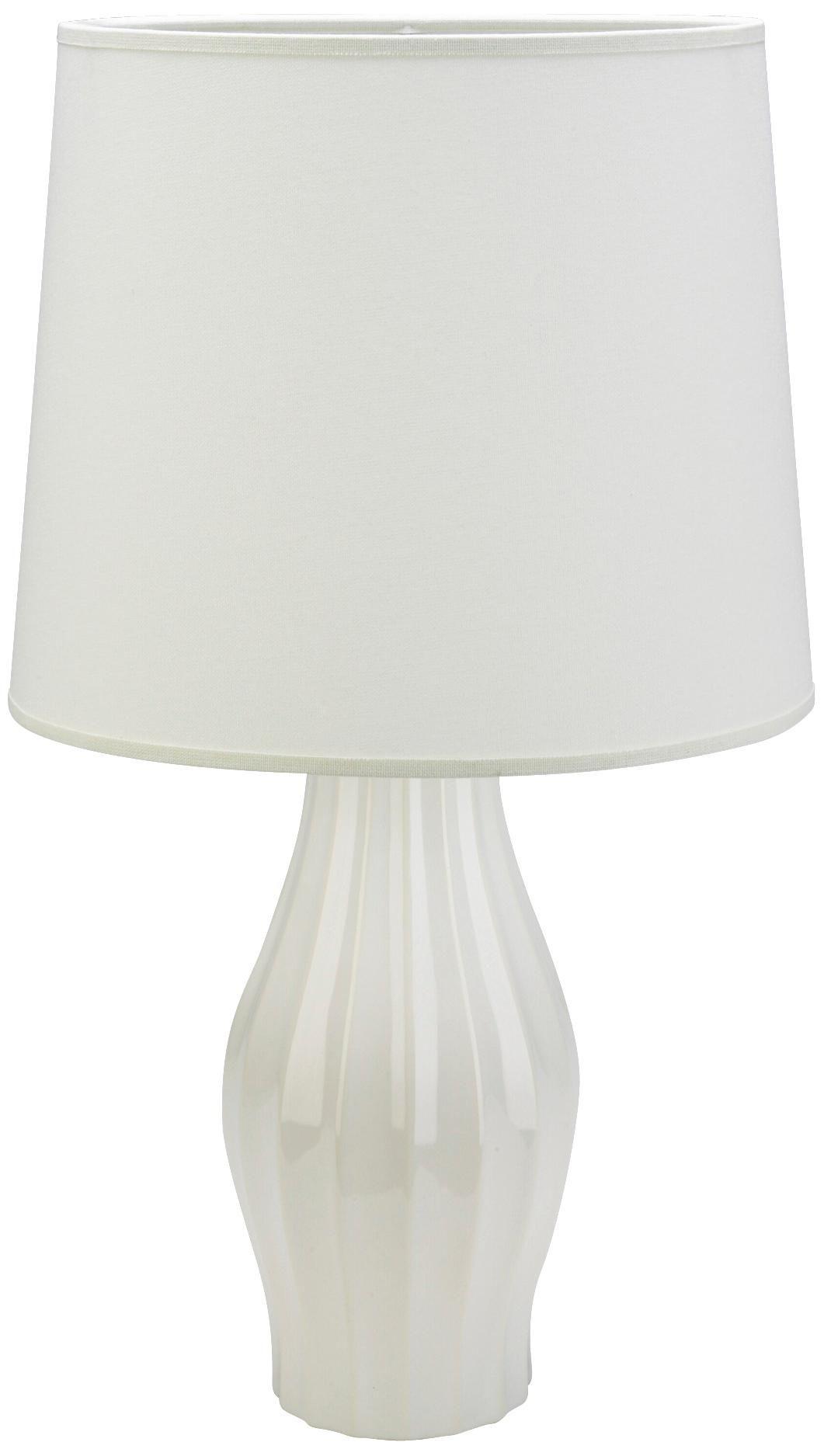 Haeger Potteries White Fluted Ceramic Table Lamp 36702 Lamps Plus Table Lamp Ceramic Table Lamps Lamp