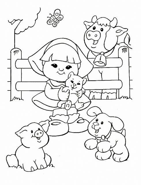 Kleurplaat Little People 16   FOFURICES - IDEIAS e ARTEIRICES ...