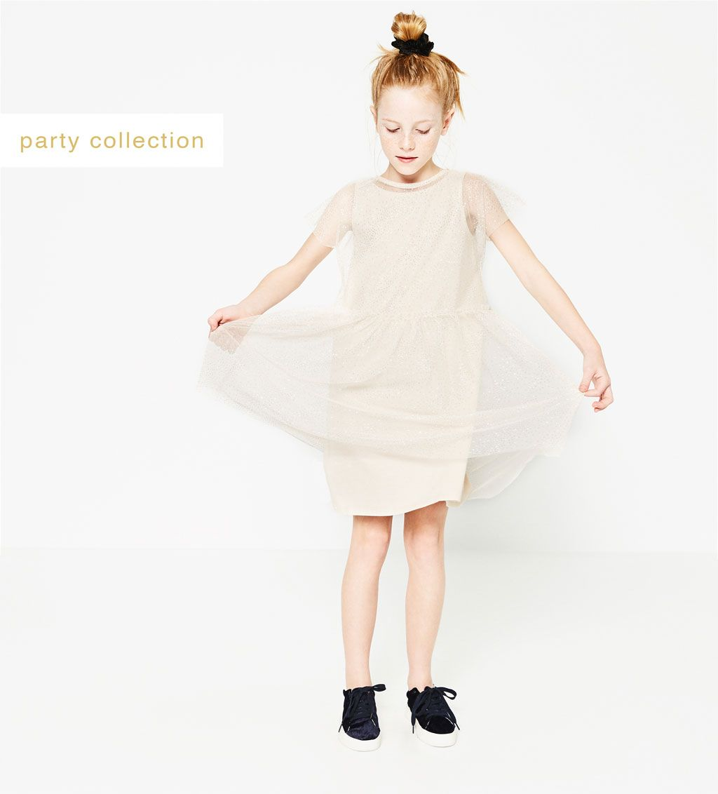 SHINY TULLE DRESS-DRESSES AND JUMPSUITS-Girl-Kids   4-14 years-KIDS   ZARA United States