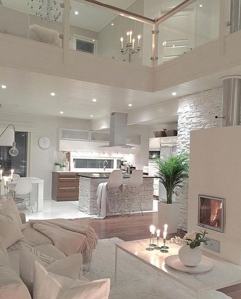 35 Beautiful Cozy Living Room Design Idea Try For You White