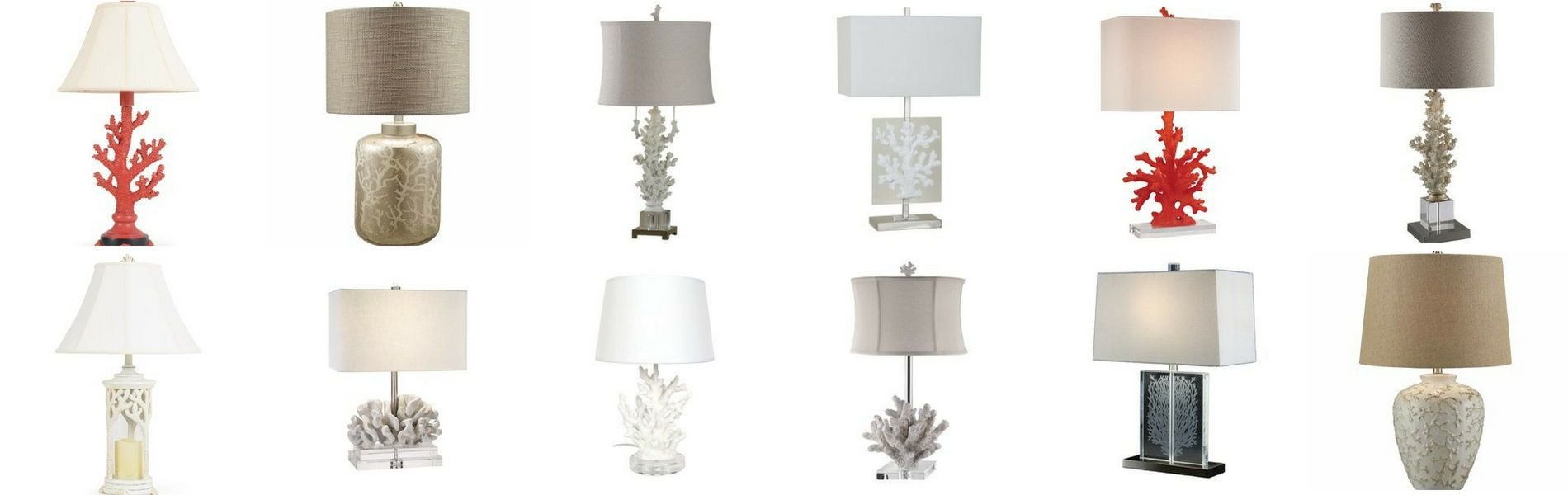 Coral Lamps Discover The Best Coral Themed Table Lamps And Floor