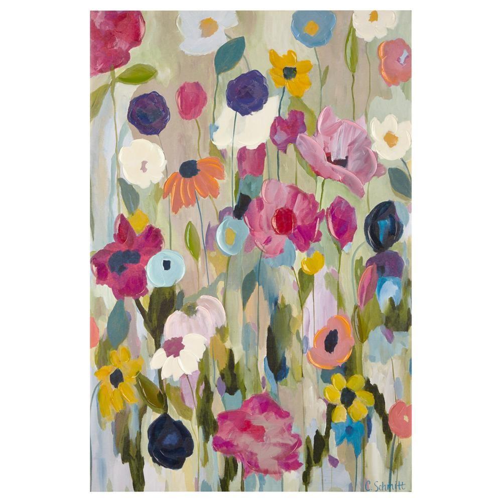 Tableau peinture de fleurs la spatule tableaux for Peinture a la spatule