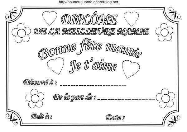 Diplome Bonne Fete Mamie Meme Memere Et Mame Bon Anniversaire