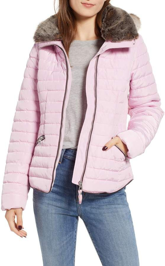 a950b802d Joules Faux Fur Hooded Coat | Products in 2019 | Faux fur hooded ...
