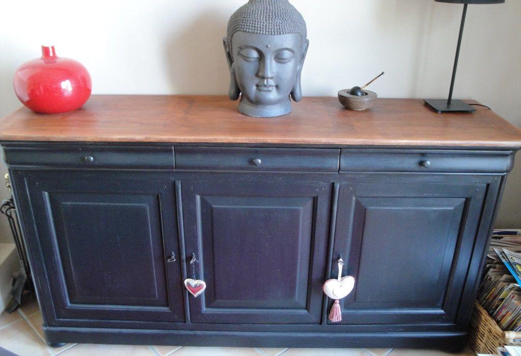 buffet louis philippe relooking meubles mobilier de salon buffet relooker. Black Bedroom Furniture Sets. Home Design Ideas