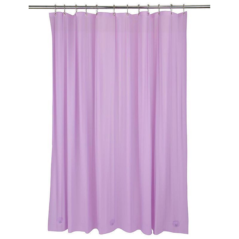 Bath Bliss Heavy Weight Mildew Resistant Shower Curtain Liner Purple