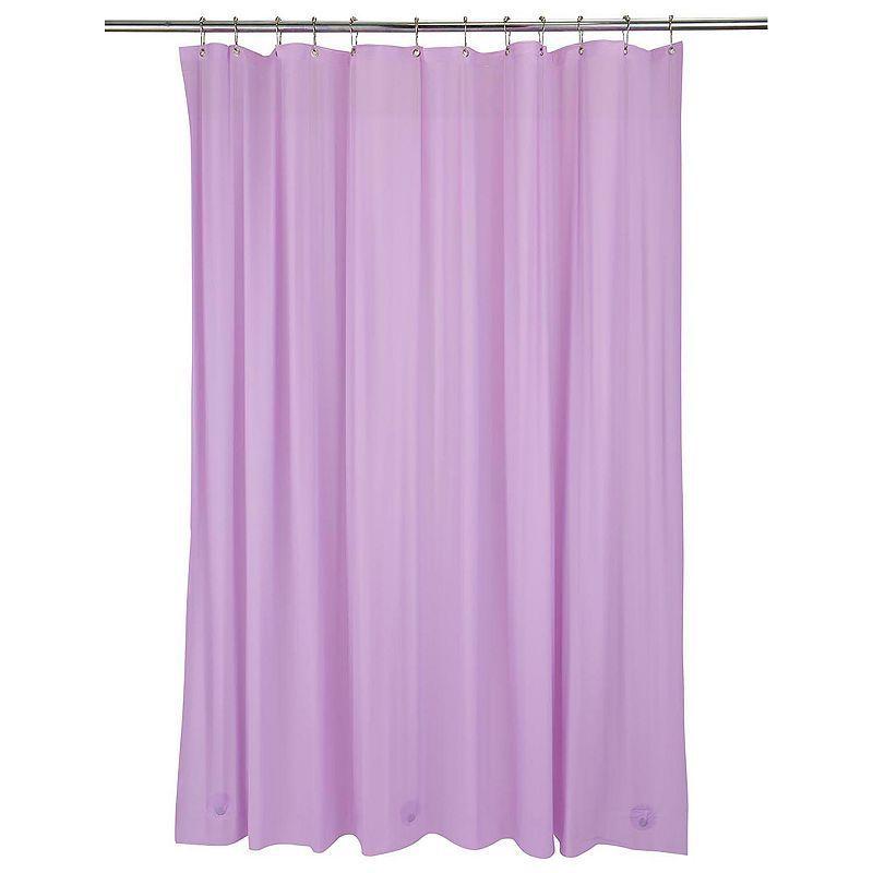 Bath Bliss Heavy Weight Mildew Resistant Shower Curtain Liner Purple