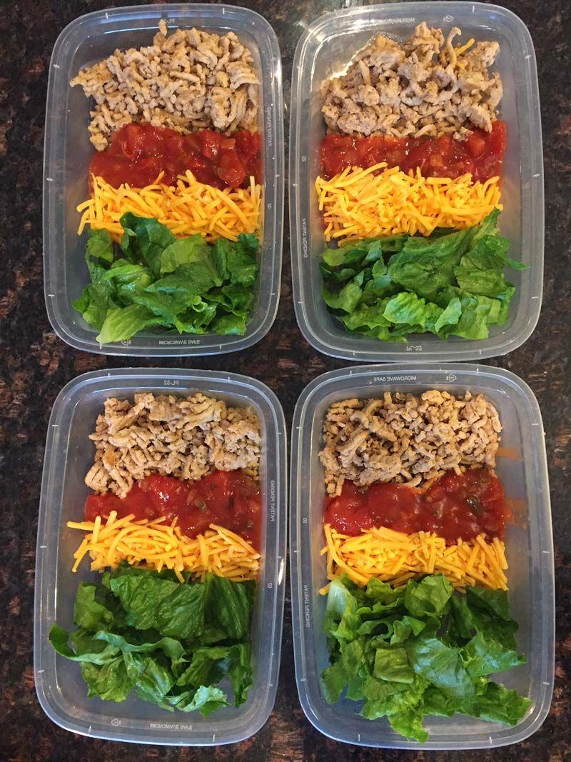 Keto Taco Salad Meal Prep Recipe Salad meal prep, Meal