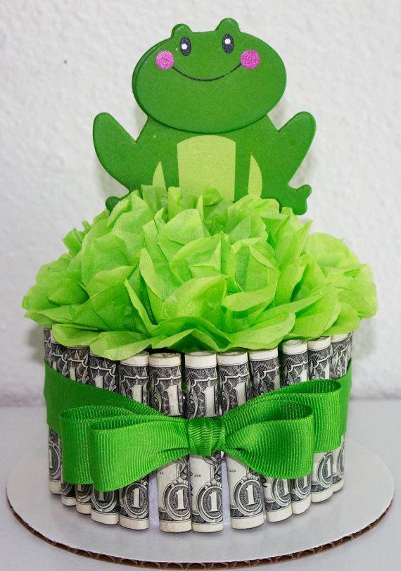 Money Cake Happy Birthday Frog By Newecreativegifts On Etsy Fun