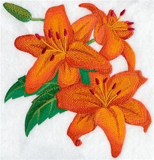 Machine Embroidery Designs at Embroidery Library! - Lilies