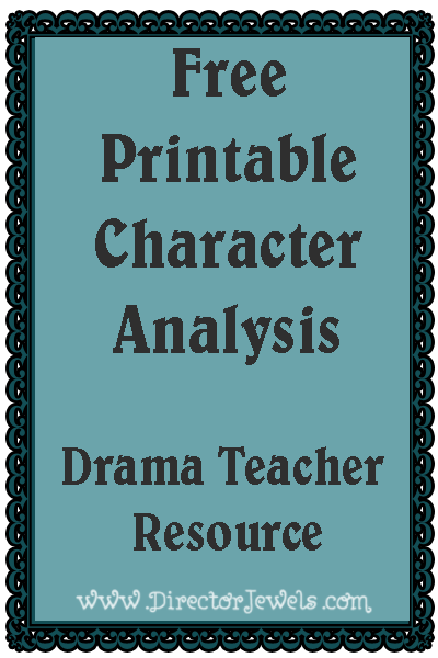 drama teacher resource at free printable character analysis worksheet. Black Bedroom Furniture Sets. Home Design Ideas