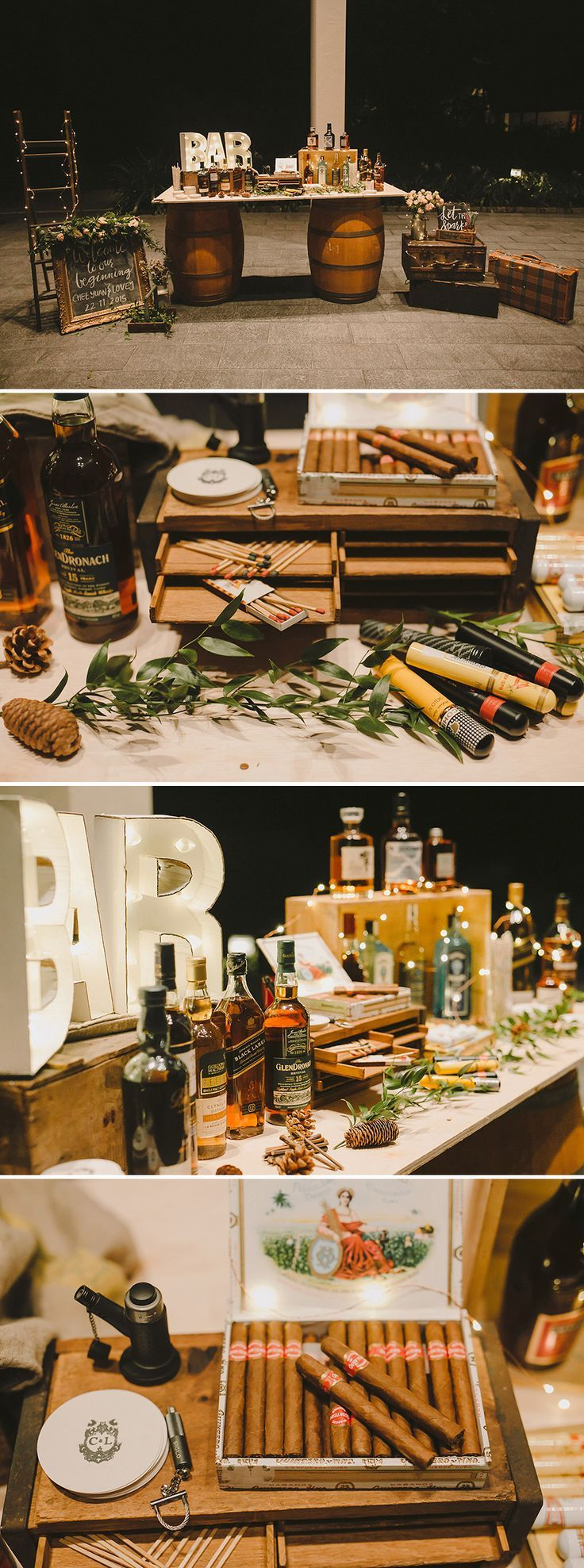 Photo of Capella wedding with children's corner, whiskey and cigar bar and dessert street