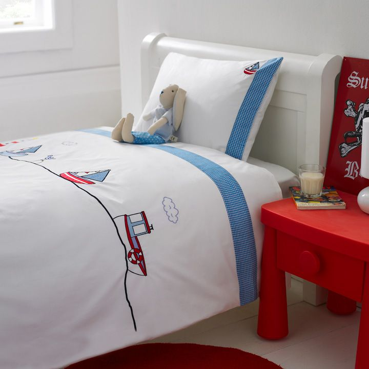Kids Bedroom Linen big blue sea duvet cover and pillow case >boys bed linen >kids