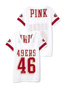 6937051ab San Francisco 49ers Sporty Athletic V-neck Jersey