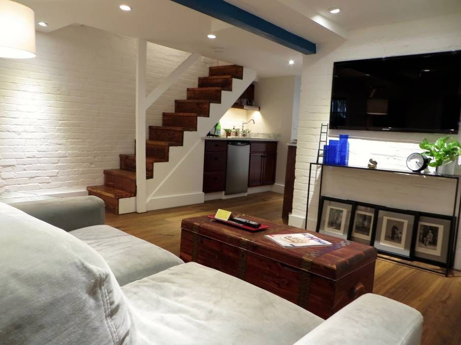 Check Out This Awesome Listing On Airbnb Brand New English Basement Townhouses For Rent In Washington Townhouse For Rent Home Renovation Basement Flat