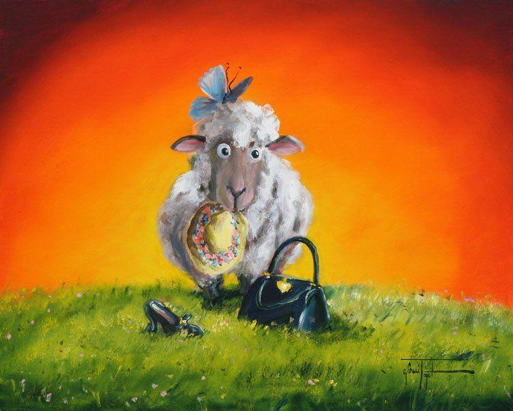 Sheep Incognito Sheep Art Sheep Wall Art Animal Art